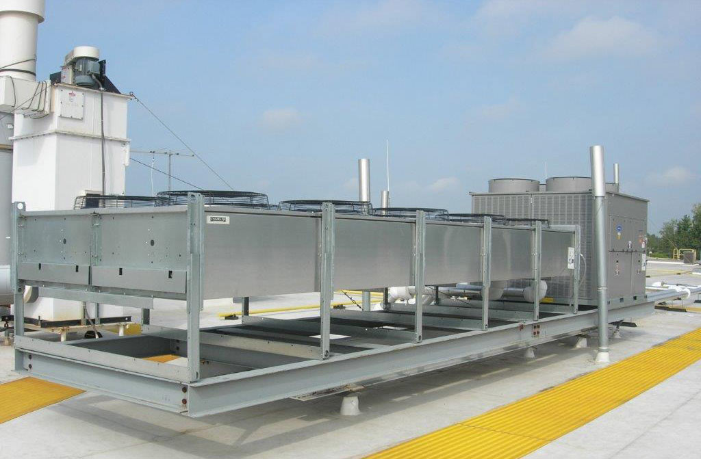 Rooftop Industrial HVAC system in Indiana