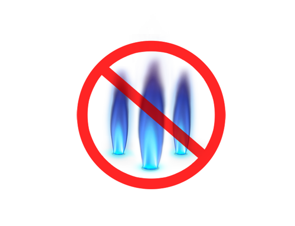 Safety from blue flames